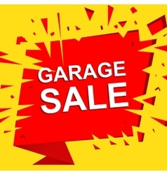 Big sale poster with garage sale text advertising vector
