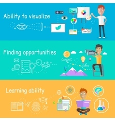 Business Ability of Visualize Learning vector image vector image