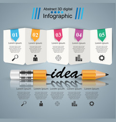business infographics pencil idea icon vector image vector image