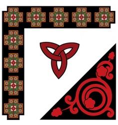Celtic pattern set vector image