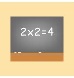 Chalk blackboard icon vector