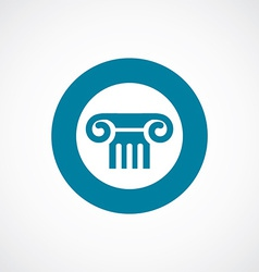 Column icon bold blue circle border vector