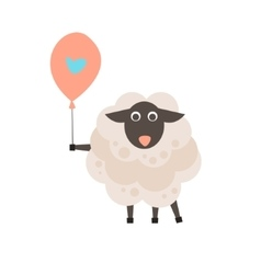 Cute sheep with a sign for text vector