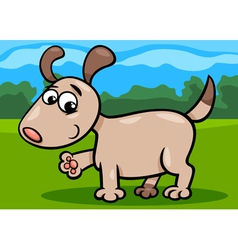 Dog puppy cartoon vector