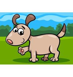 dog puppy cartoon vector image vector image