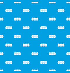 Eggs in carton package pattern seamless blue vector