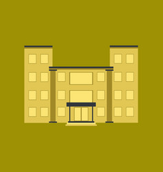 Flat icon on stylish background school building vector