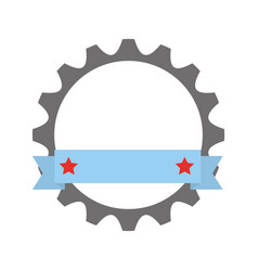 Gears machine with ribbon vector