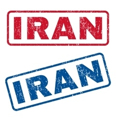 Iran rubber stamps vector