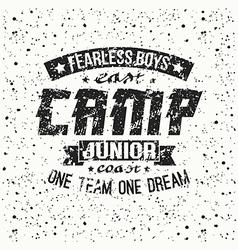 Junior sports training camp emblem vector