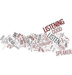 Listen and hear text background word cloud concept vector