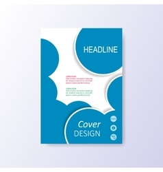 Modern blue brochure design template vector