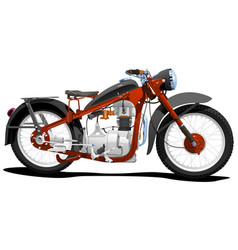 motocycle vector image