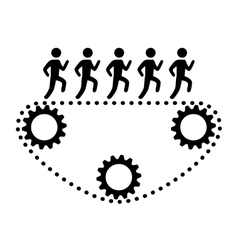 people and teamwork design vector image vector image