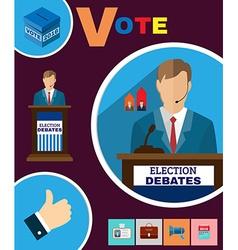 Political election debates 2016 banner vector