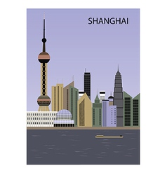 Shanghai china vector