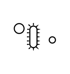 Simple bacteria linear icon vector