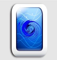 Smartphone screen vector image