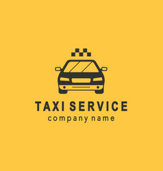 taxi service logo design vector image vector image