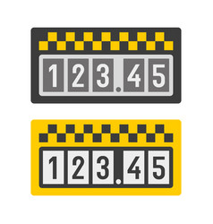 taximeter icon set vector image vector image