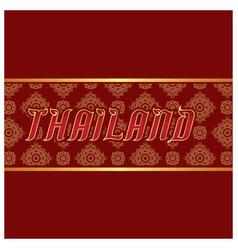 Thailand thai design frame red background i vector