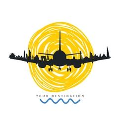 travel destination icon vector image vector image