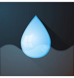 Water Drop on Dark Background vector image vector image
