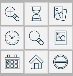 Web icons set with image refuse calendar and vector