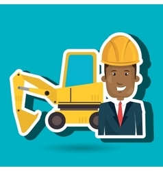 Man construction tool work vector