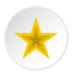 Celestial figure star icon flat style vector