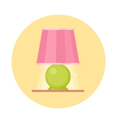 Cute flat nigh light icon cartoon geometric lamp vector