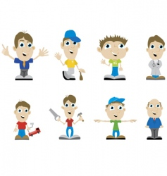 miscellaneous guys vector image