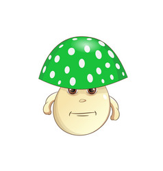 Green mushroom vector