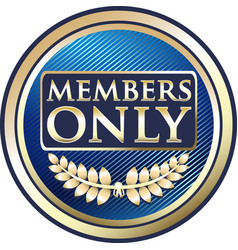 Members only gold label vector
