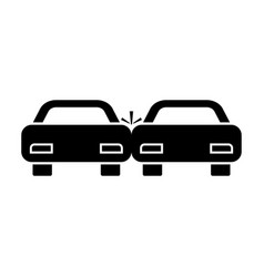 crashed cars vector image