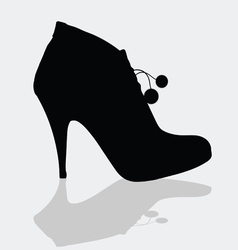 Shoes for women with details vector