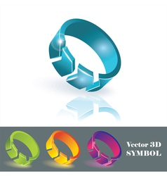 3d color symbols vector