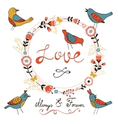 Elegant love card vector