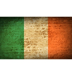Flags ireland with dirty paper texture vector