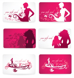 Glamour gift cards vector