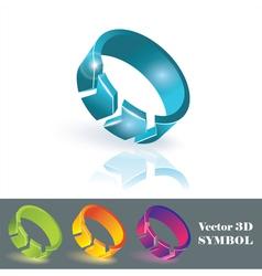 3d color symbols vector