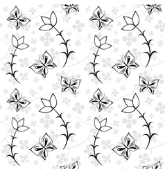 Floral seamless texture vector