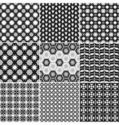 9 Great patterns Set 1 vector image vector image