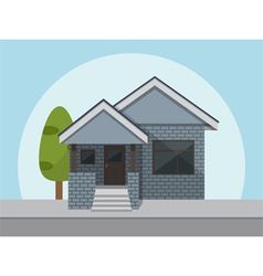 Flat style house icon vector
