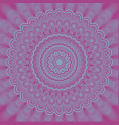 Abstract psychedelic mandala fractal background - vector