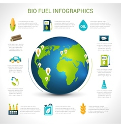Bio fuel infographics vector