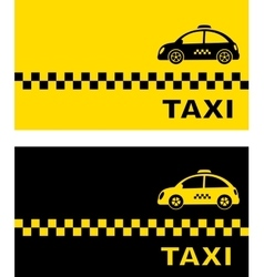 Business card with retro taxi vector
