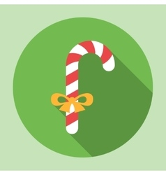 Christmas candy icon vector