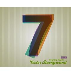 Color transparency symbol 7 vector
