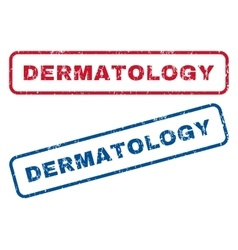 Dermatology rubber stamps vector